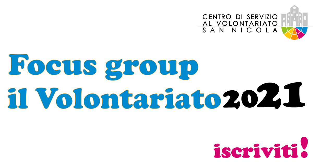 Focus-group-Volontariato-2021-CSVSN-2020