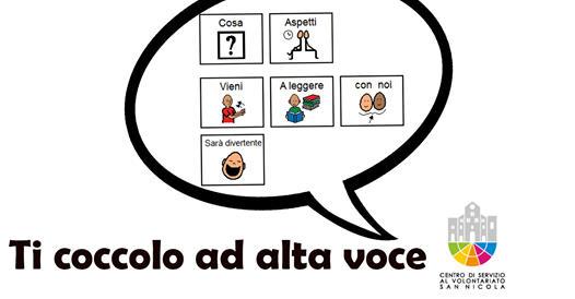 Banner Ti coccolo ad alta voce - logoterapia per bambini - CSV San Nicola