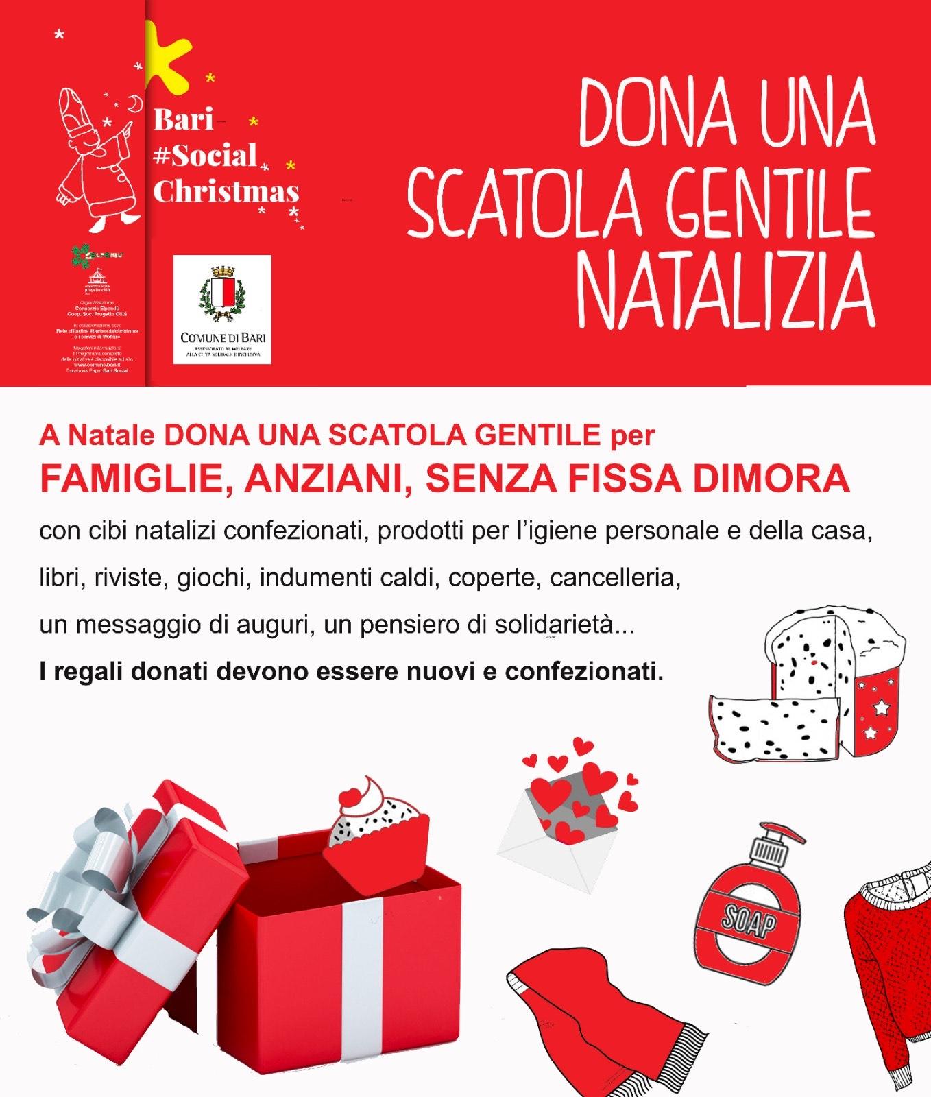 Locandina Dona-una-scatola-gentile-natalizia-Comune-di-BARI-2020