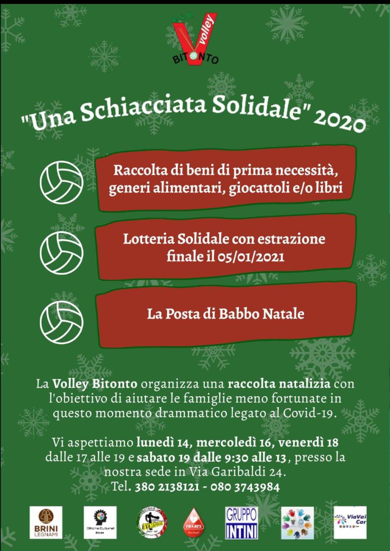 Una schiacciata solidale 2020 ASD Volley Bitonto locandina