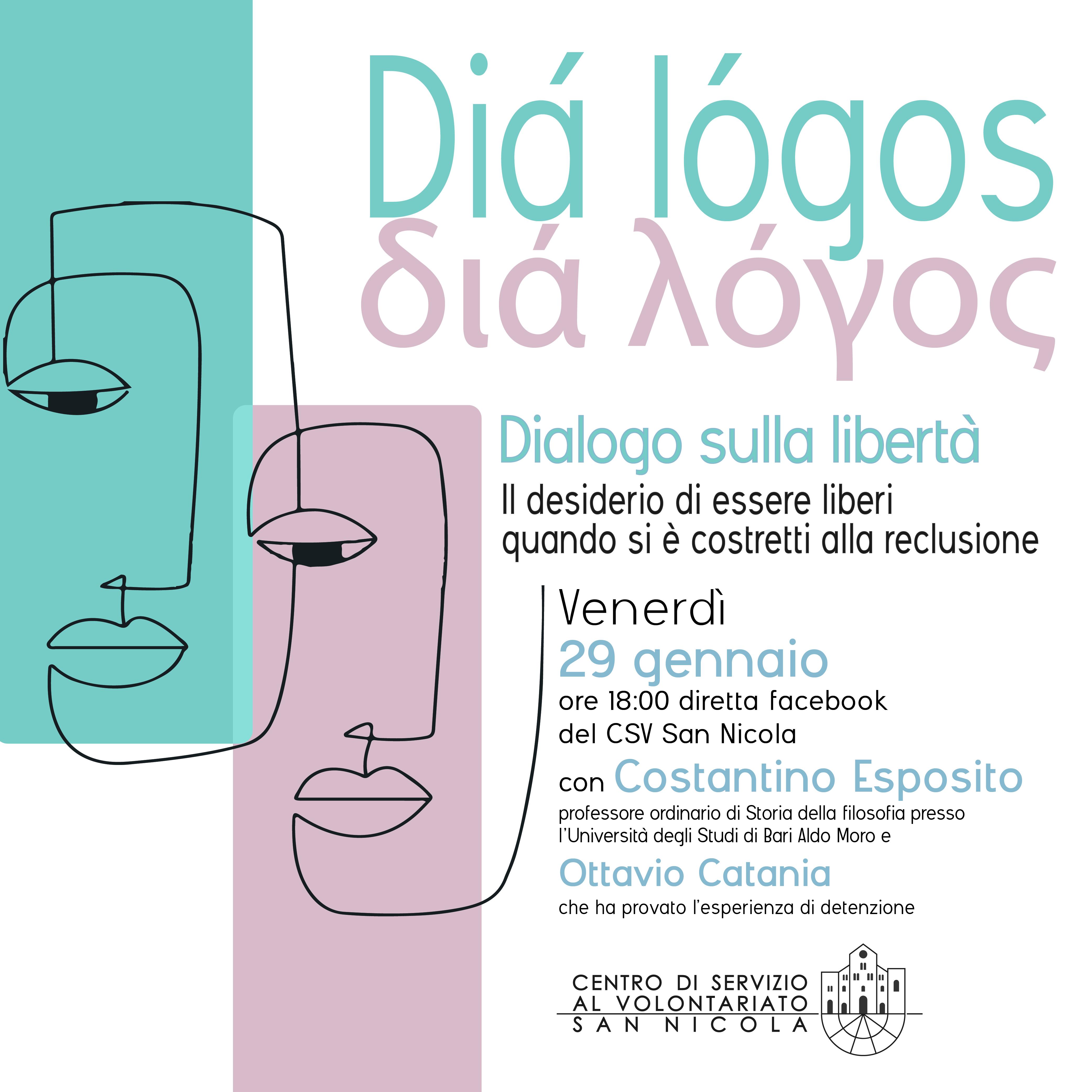Banner Diá lógos Il desiderio di essere liberi quando si è costretti alla reclusione CSVSN 2021