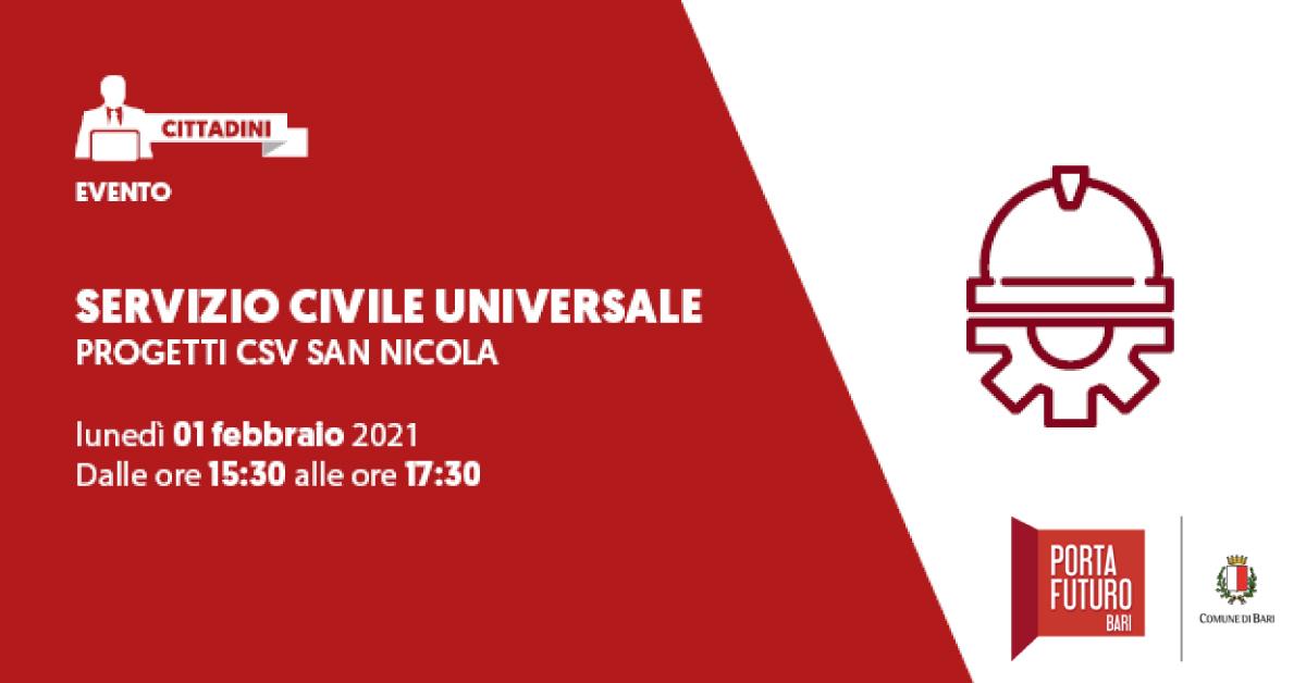 Banner workshop Servizio Civile Centro di Servizio al Volontariato San Nicola