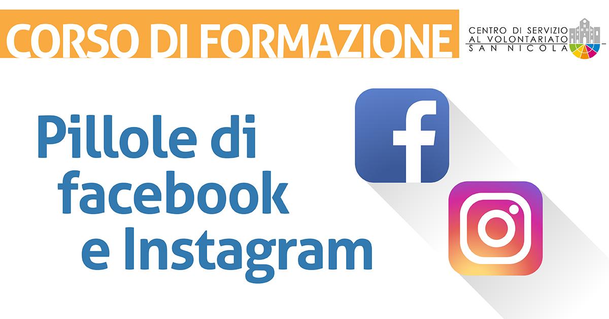Banner corso formazione Pillole di Facebook e Instagram CSV San Nicola 2021