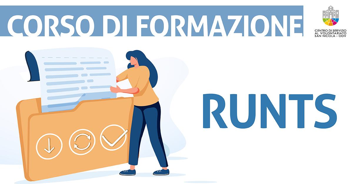 Banner corso formazione RUNTS CSV San Nicola 2021
