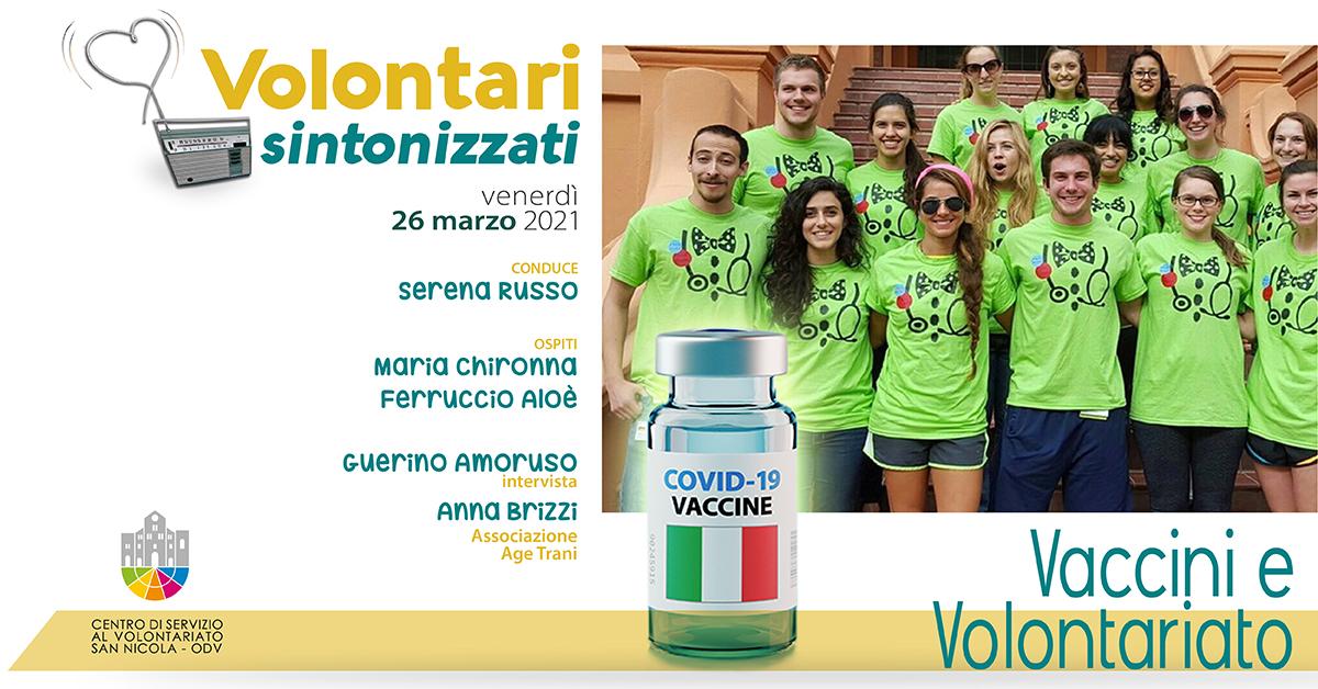 Banner Volontari sintonizzati CSV San Nicola Vaccini e Volontariato