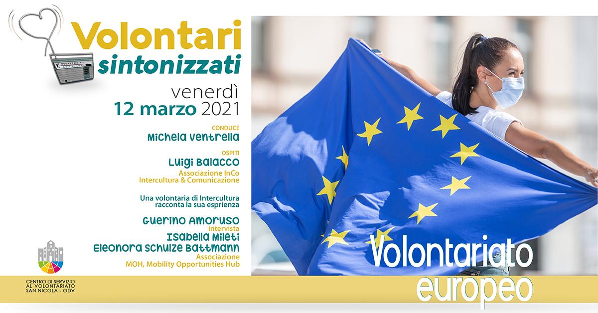Banner Volontari sintonizzati CSV San Nicola Volontariato europeo
