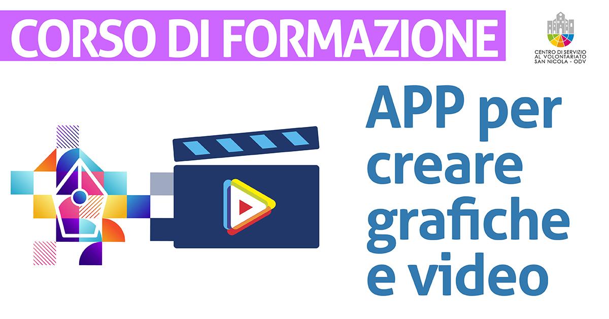 Banner corso formazione Suggerimenti di APP utili per creare piccole grafiche e piccoli video CSV San Nicola 2021