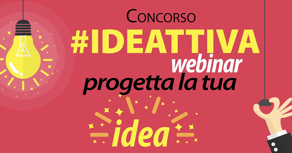 Banner webinar sul concorso #IDEATTIVA 15 marzo CSV San Nicola