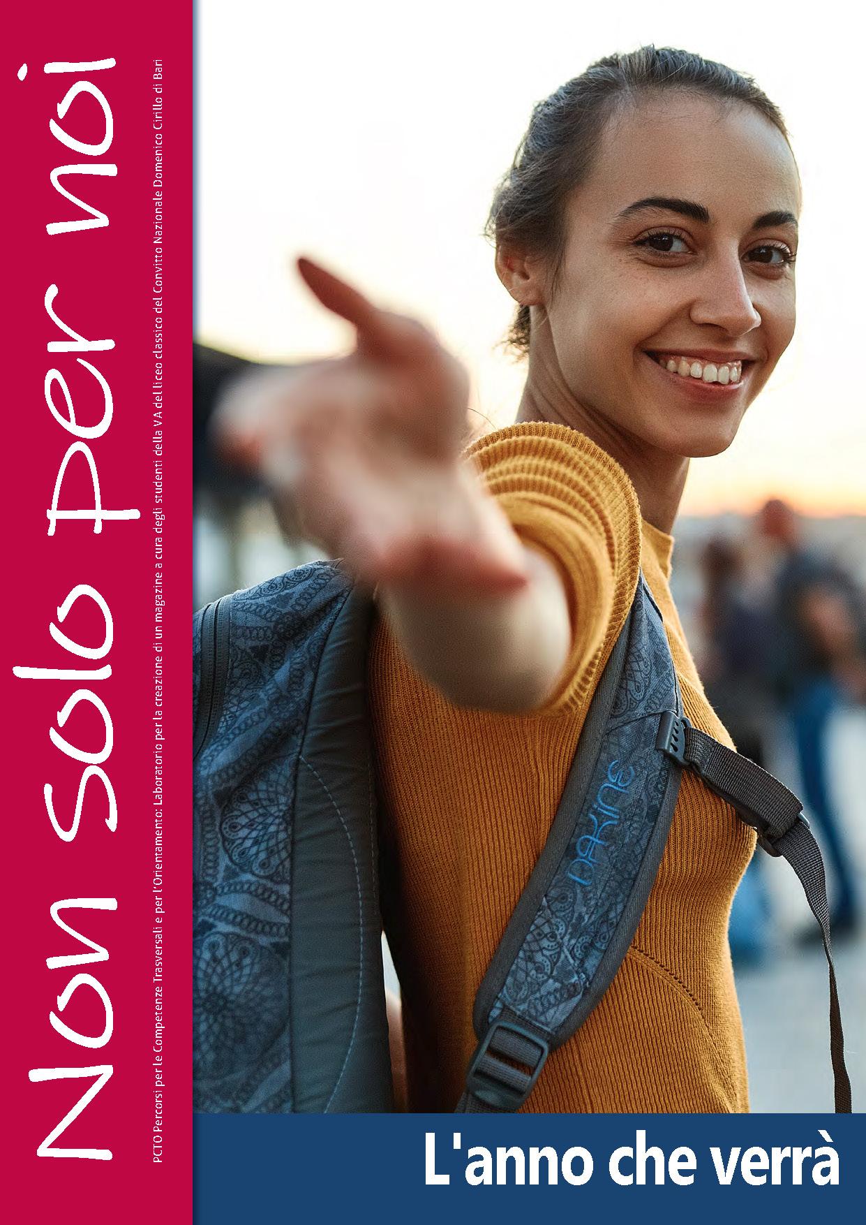 copertina Magazine Non solo per noi Convitto D. Cirillo e CSV San Nicola 2021