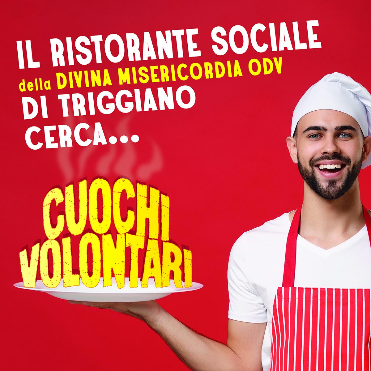 Banner Il Ristorante Sociale di Triggiano cerca Cuochi volontari 2021 Divina Misericordia OdV