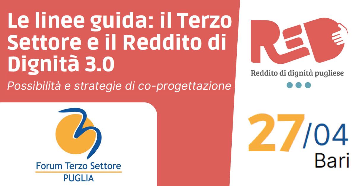 Banner-Terzo-Settore-e-Reddito-di-Dignità-strategie-co-progettazione-Forum-Terzo-Settore-Puglia