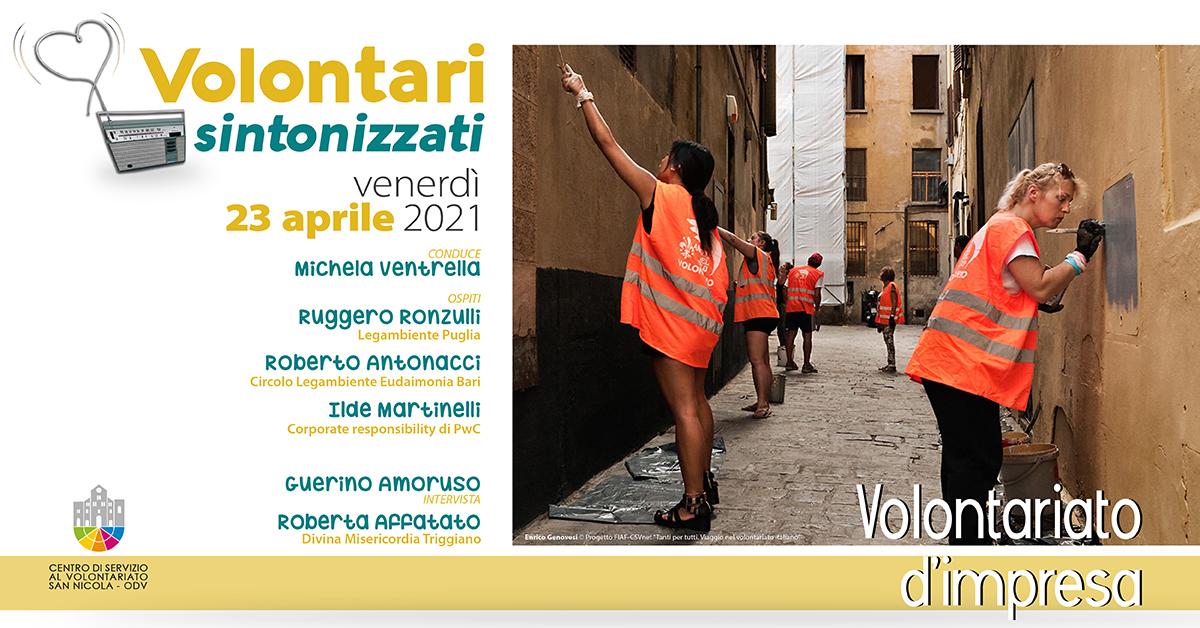 Banner Volontari sintonizzati CSV San Nicola Volontariato d'impresa