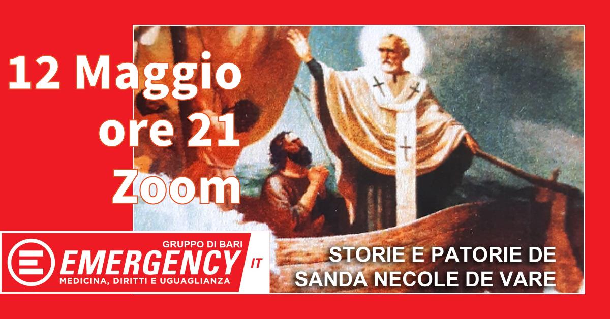 Banner Storie e patorie de Sanda Necole de Vare Emergency Bari 2021