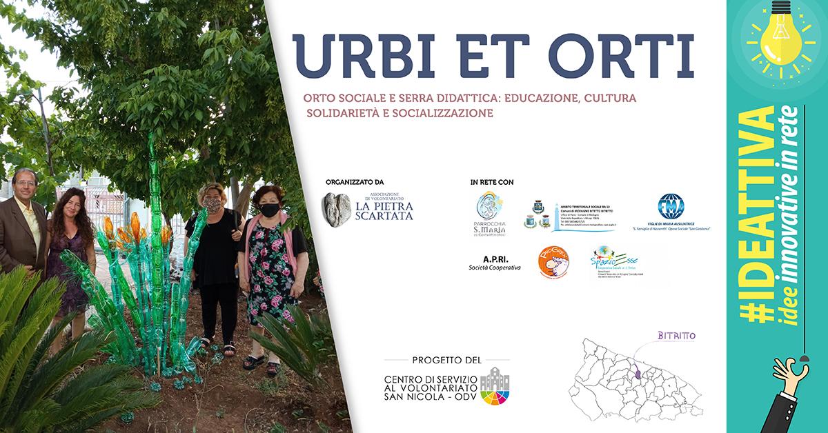 Banner Urbi et Orti IDEATTIVA 2021 CSV San Nicola - La Pietra scartata