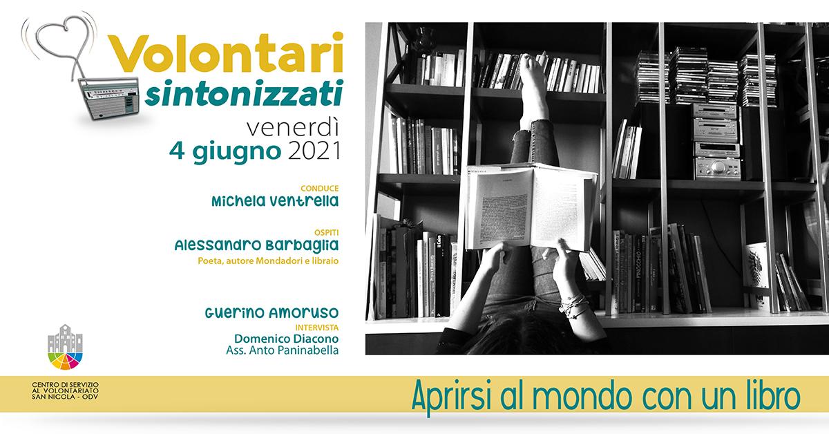 Banner Aprirsi al mondo con un libro Volontari sintonizzati CSV San Nicola 2021