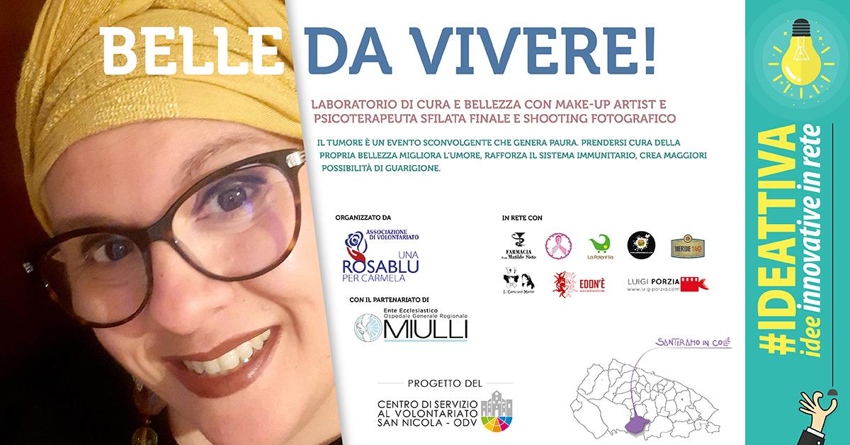 Banner Belle da vivere IDEATTIVA 2021 CSV San Nicola - Una Rosa blu per Carmela