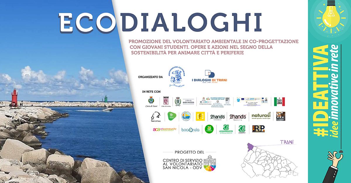 Banner EcoDialoghi IDEATTIVA 2021 CSV San Nicola - La Maria del Porto