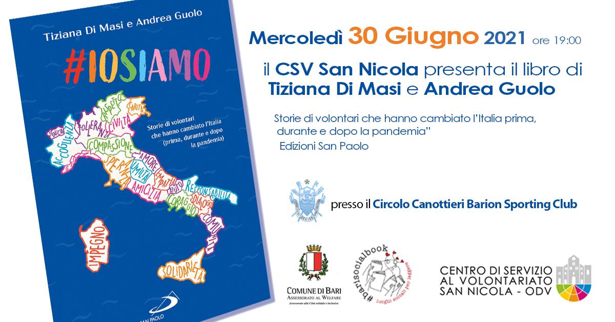 Banner IOSIAMO di Tiziana Di Masi diventa un libro Circolo Barion Bari 30 giugno 2021