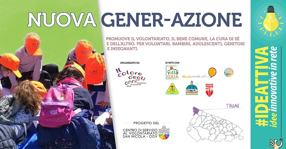 Banner Nuova Gener-Azione IDEATTIVA 2021 CSV San Nicola - Il Colore degli anni