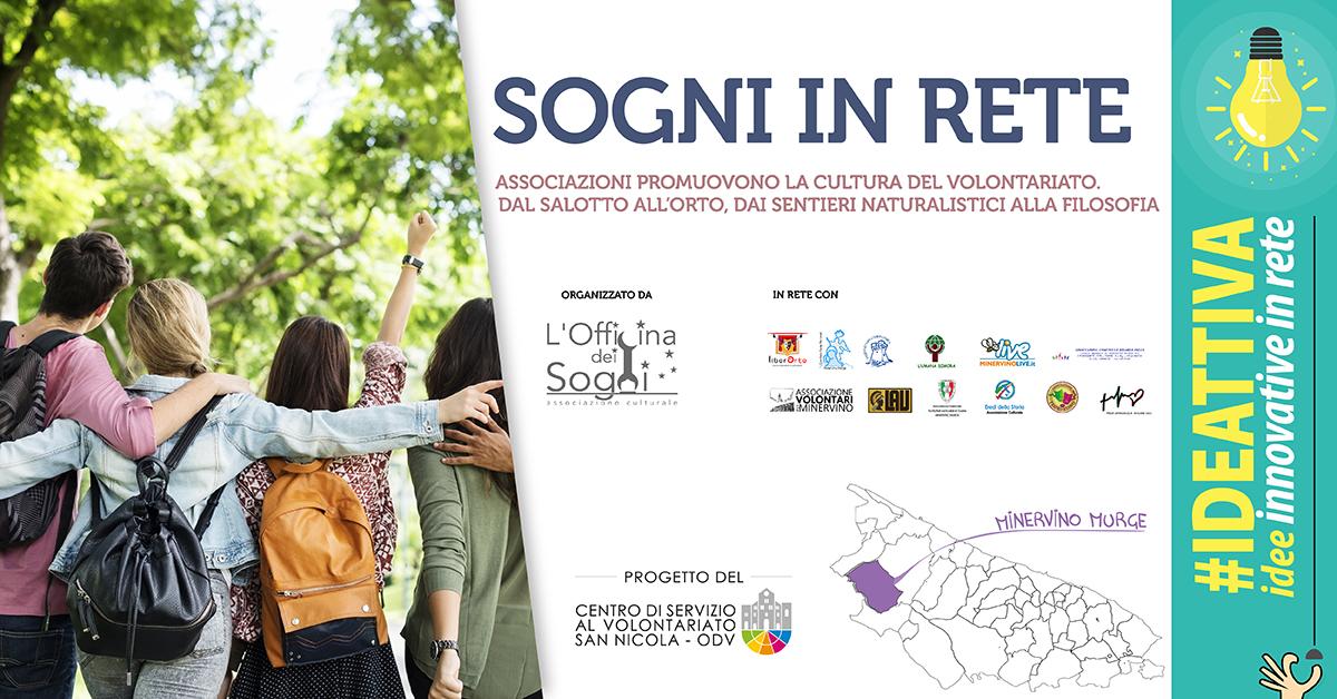 Banner Sogni in rete IDEATTIVA 2021 CSV San Nicola - L'Officina dei Sogni