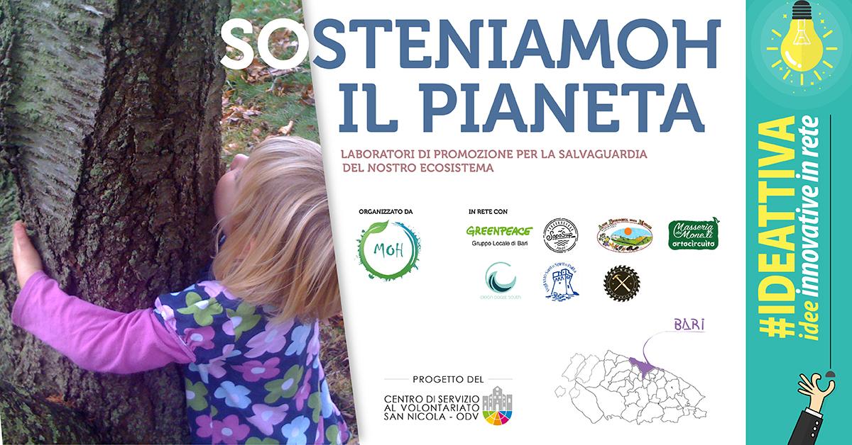 Banner SosteniaMOH il pianeta IDEATTIVA 2021 CSV San Nicola - MOH