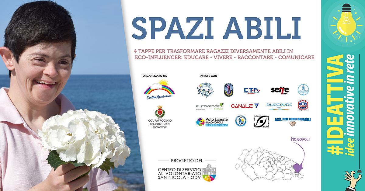 Banner Spazi Abili IDEATTIVA 2021 CSV San Nicola - Centro Arcobaleno