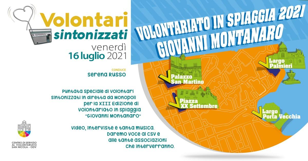Banner speciale Volontariato in Spiaggia Volontari sintonizzati CSV San Nicola 2021