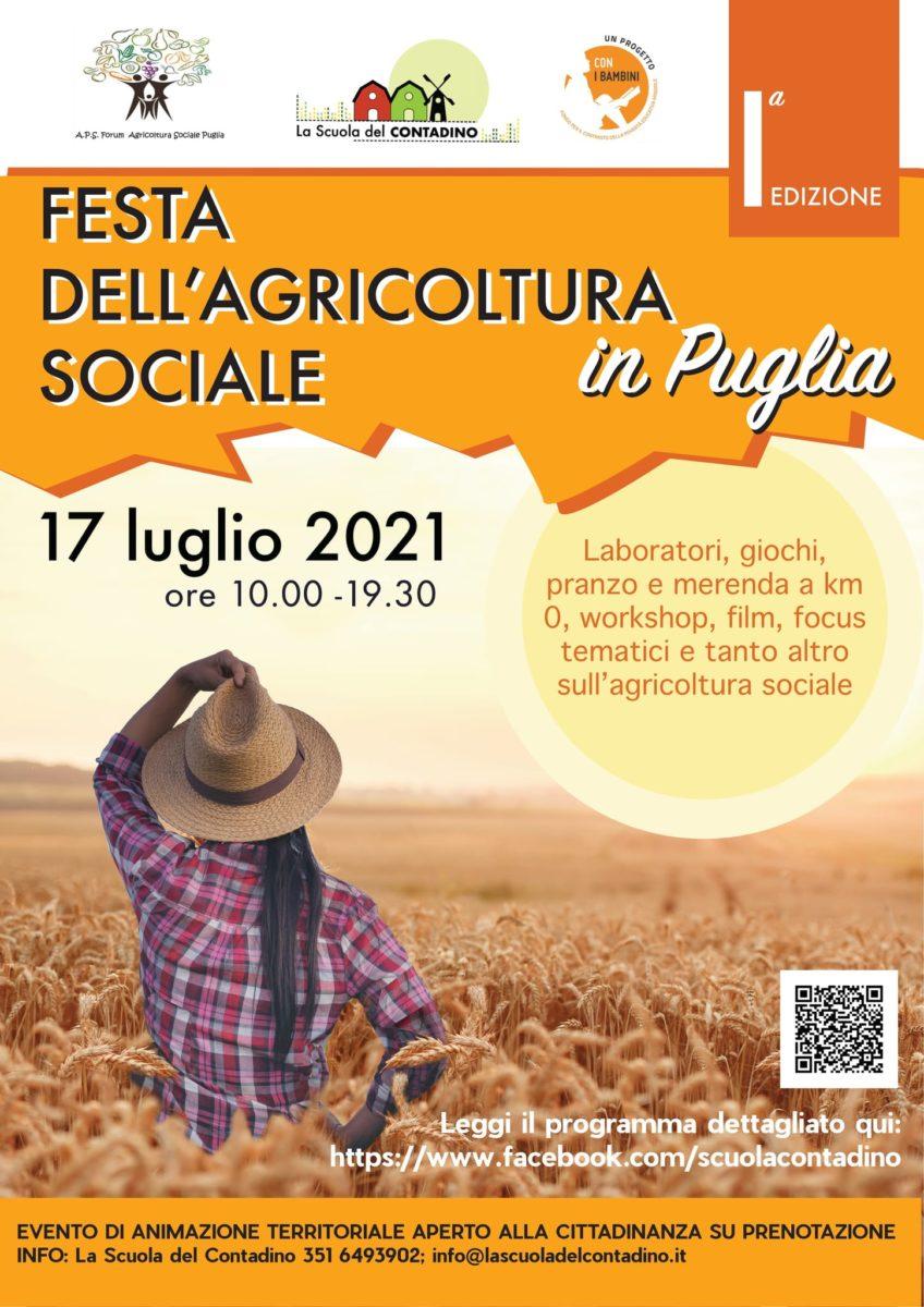 locandina prima edizione della Festa dell'Agricoltura sociale in Puglia 2021