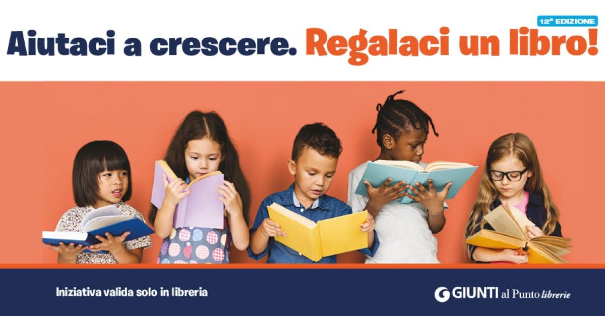 Banner Aiutaci a crescere Regalaci un Libro 2021 Giunti al Punto Bari Japigia CSV San Nicola