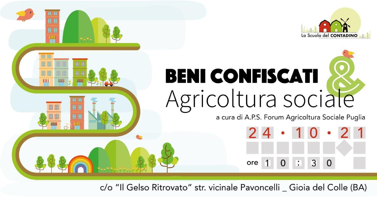 Banner Beni confiscati & Agricoltura Sociale Forum di Agricoltura Sociale Puglia