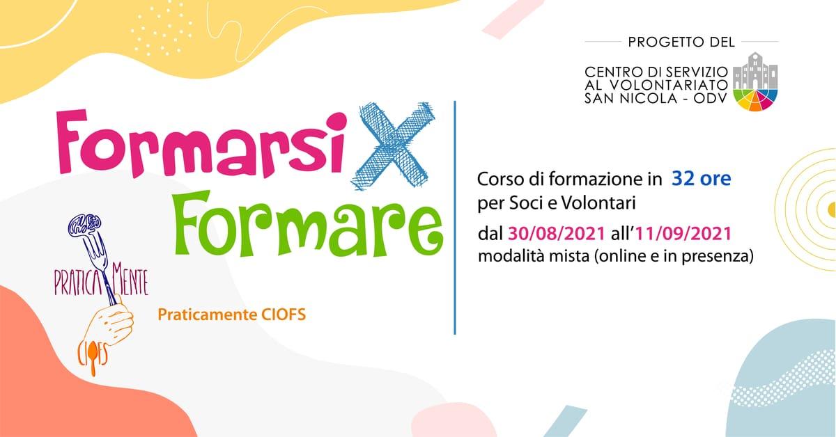 Banner Formazione indiretta CSV San Nicola Formarsi X Formare