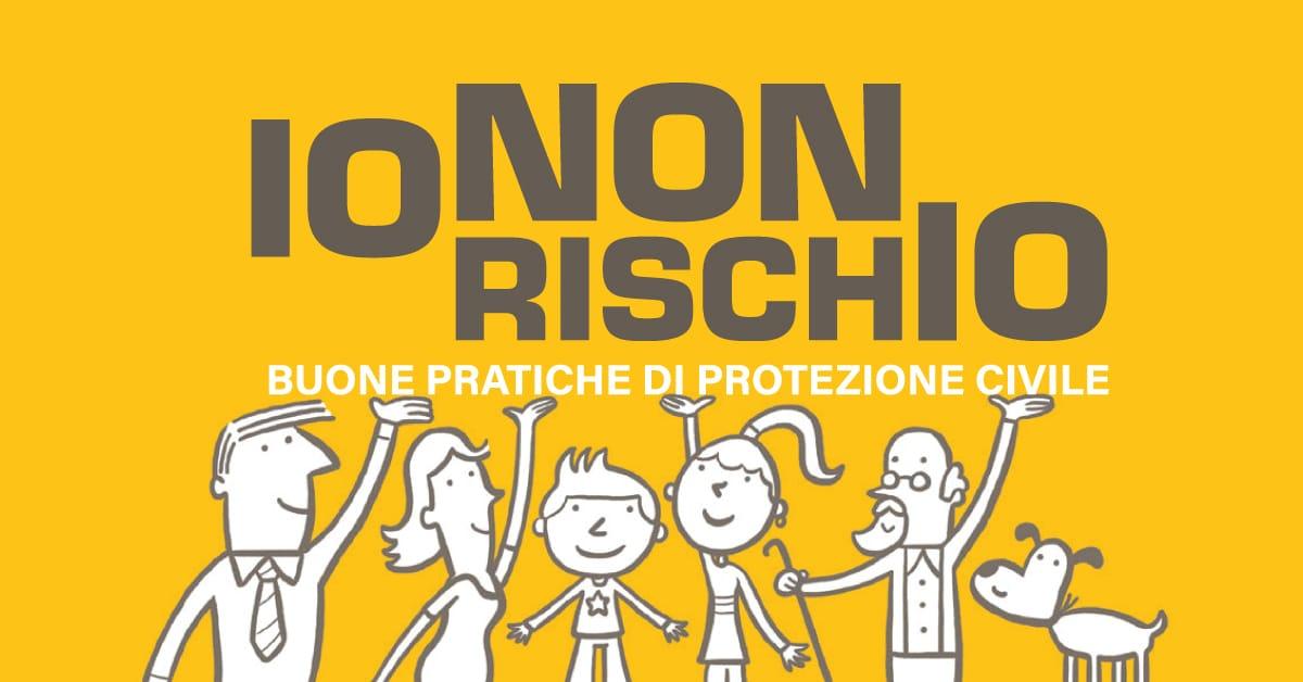 Banner IO NON RISCHIO buone pratiche di protezione civile