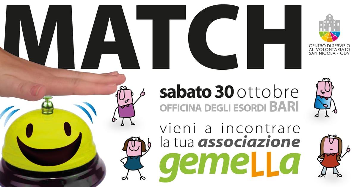 Banner Match 2021 tra Aspiranti Volontari e Associazioni di Volontariato CSV SAN NICOLA