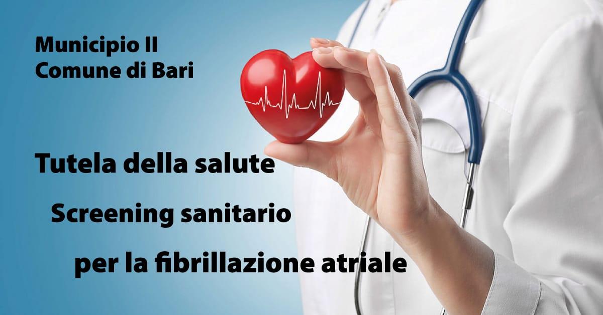 Banner Municipio II del Comune di Bari Screening fibrillazione atriale gratuito