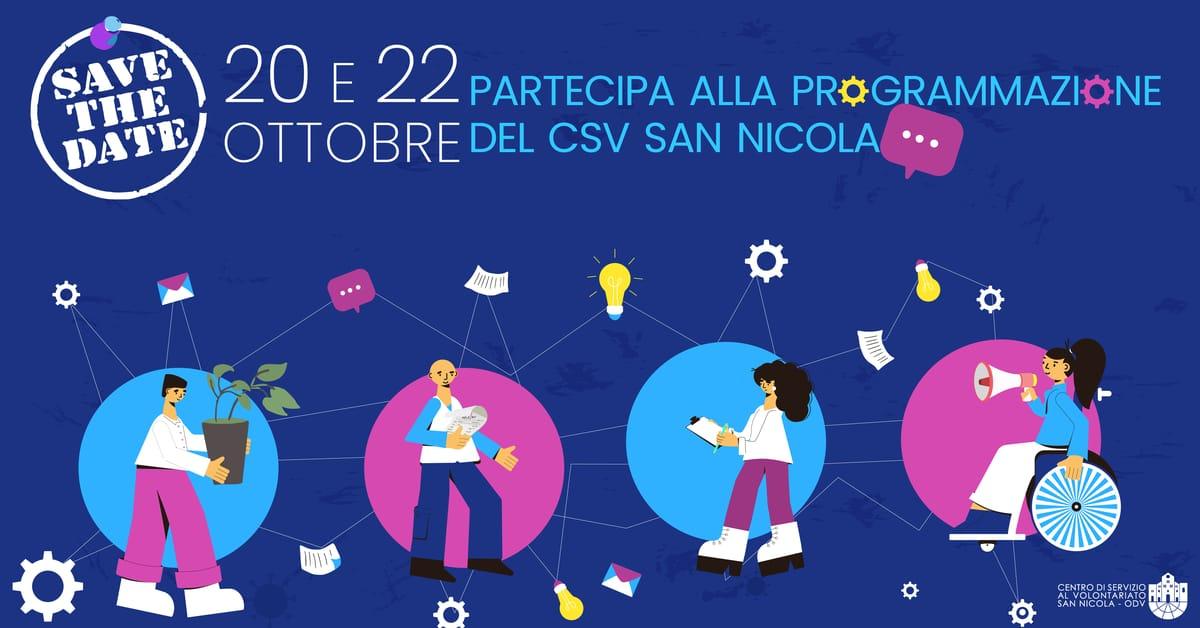 Banner Programmazione partecipata 2022 enti Terzo settore CSV San Nicola
