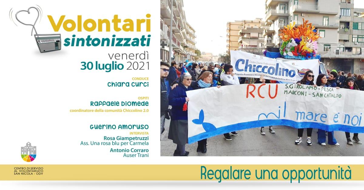 Banner Regalare un'opportunità Volontari sintonizzati CSV San Nicola 2021