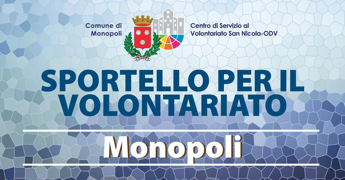 Banner Sportello per il Volontariato CSV San Nicola Monopoli 2021