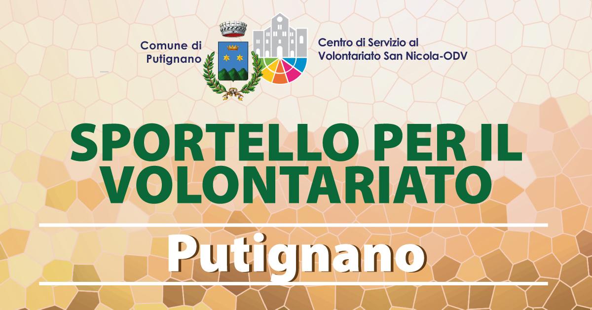 Banner Sportello per il Volontariato CSV San Nicola Putignano 2021