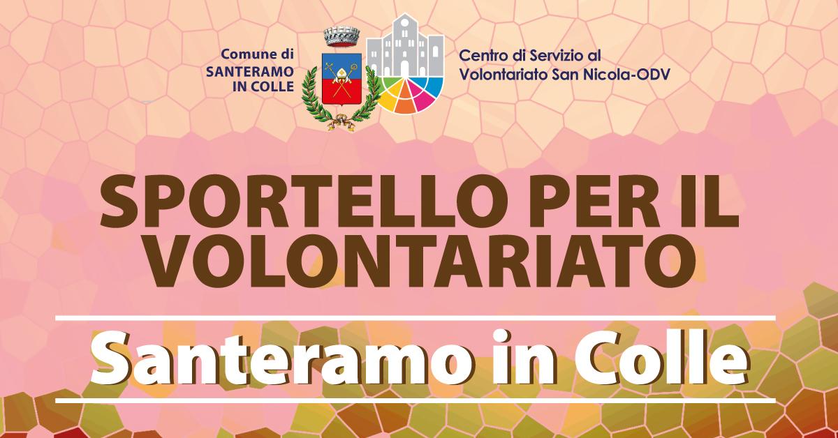 Banner Sportello per il Volontariato CSV San Nicola Santeramo in Colle 2021