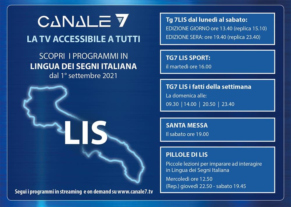 Canale7 TV accessibile a tutti scopri i programmi in Lingua dei Segni Italiana