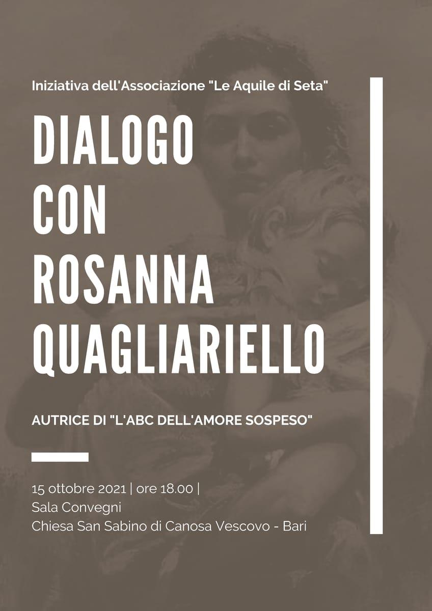 Locandina ABC amore sospeso Dialogo con Rosanna Quagliariello Le Aquile di Seta APS