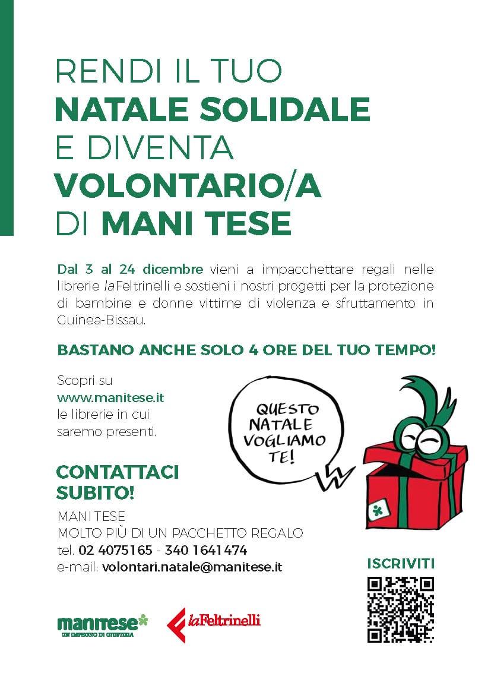 Locandina Mani Tese ricerca volontari dicembre Molto più di un pacchetto 2021