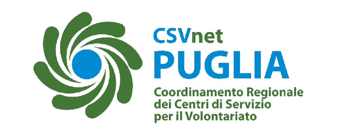 Logo CSVnet Puglia Coordinamento Regionale dei Centri di Servizio per il Volontariato